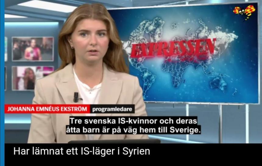 Tre svenska kvinnliga IS-terrorister återvänder till Sverige med sina barn
