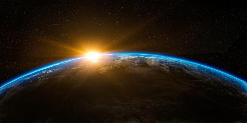 Jorden och solen.