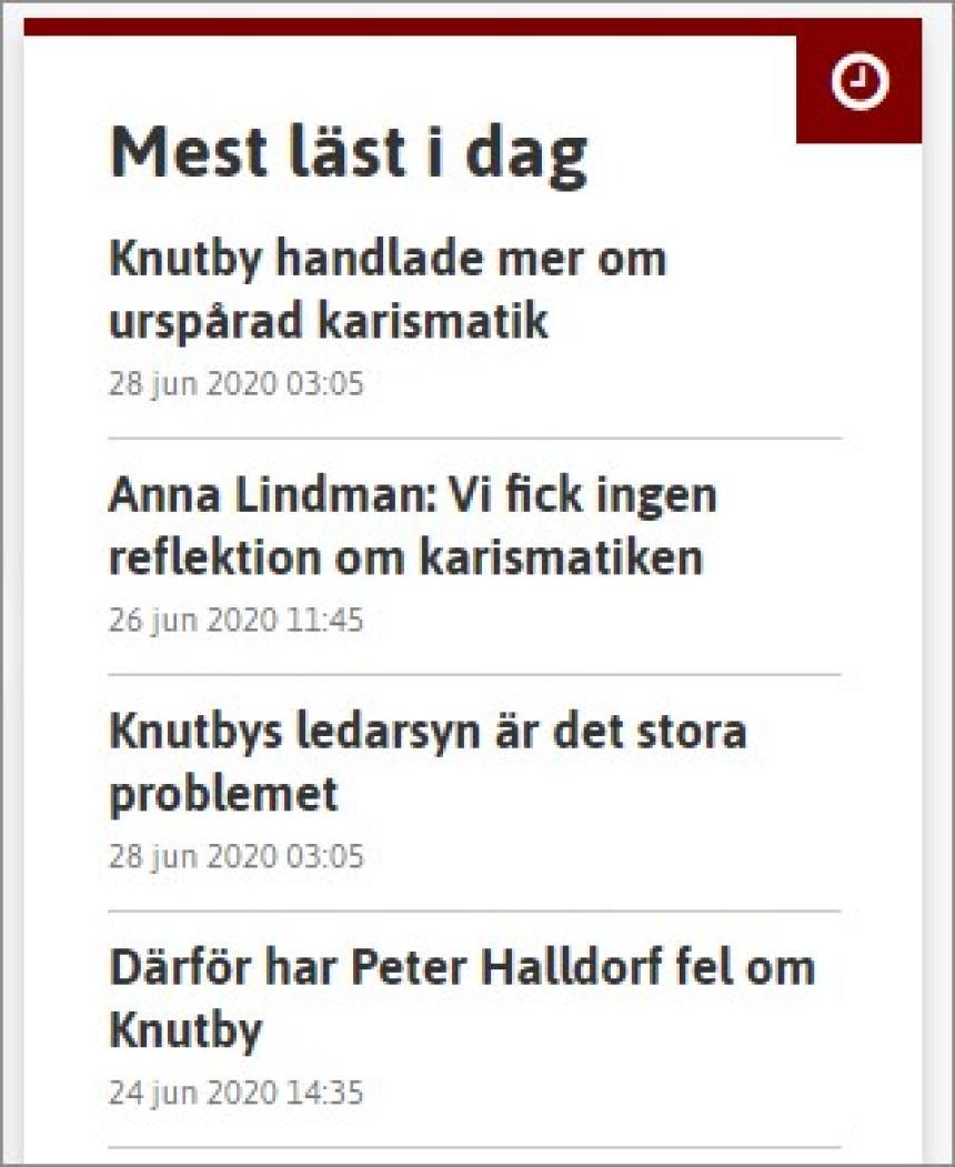 De mest lästa artiklarna i Dagen söndagen 28 juni 2020.