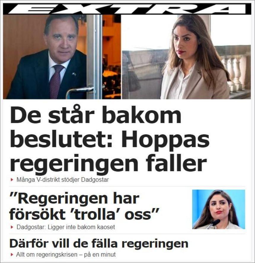 Be för Sverige - Fälls regeringen Löfven på måndag?
