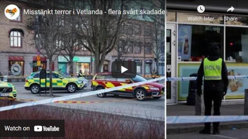 Terror attack i Vetlanda Sverige.
