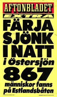 Aftonbladet plakat September 28, 1994.